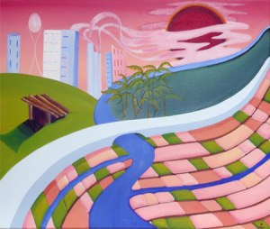 Sustainability - acrylic on canvas by Tracy Hurley